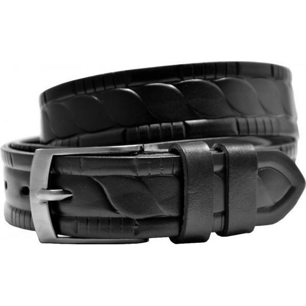 Kožený opasok široký bez vzoru - 36/40 - 40 mm