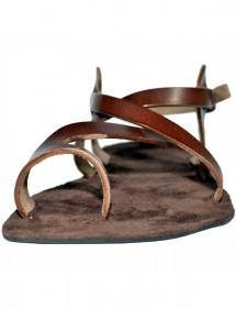 Kožený opasok s razeným vzorom a ozdobnou sponou, šírka 4 cm