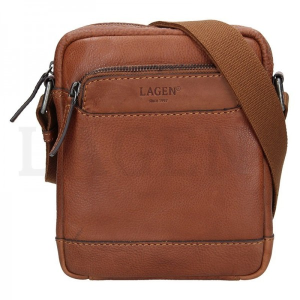 Lagen pánska kožená peňaženka svetlo hnedá 511451