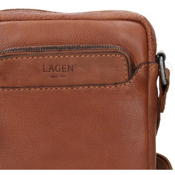 Lagen pánska kožená peňaženka čierna 511451