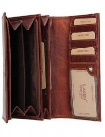dámská peněženka kožená vínová s černou výšivkou