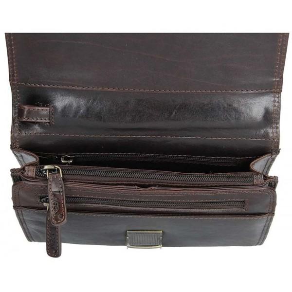 Lagen dámská peněženka kožená vínová 3534/t