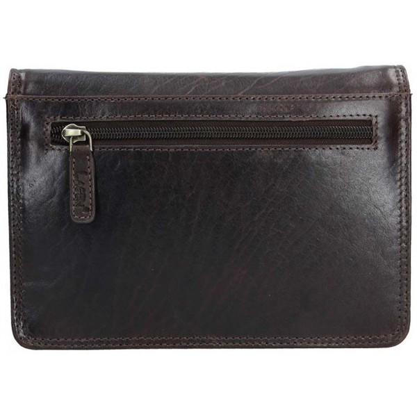 Lagen kožené pouzdro na kreditní karty černé 5015