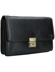 Dámska peňaženka kožená čierna