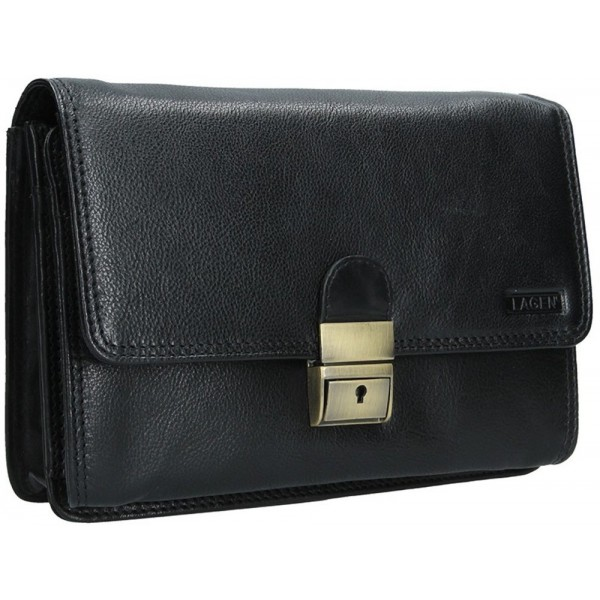 Lagen dámska peňaženka kožená 26511 čierna
