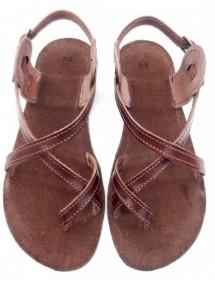 Kožené barefoot sandály - M4