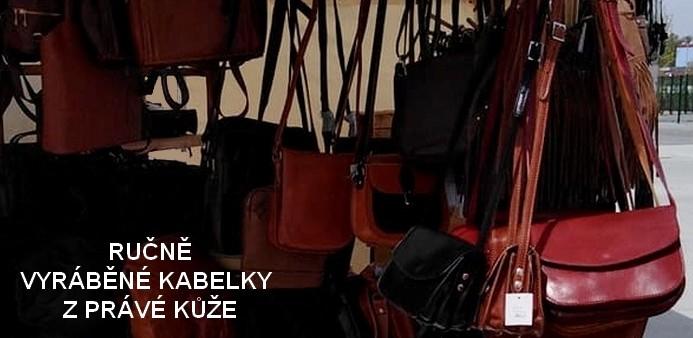 Ručně vyráběné kabelky z pravé kůže